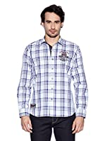 Galvanni Camisa Carlino (Azul / Blanco)