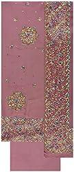 Gunjan Women's Crepe Unstitched Salwar Suit (Brown)