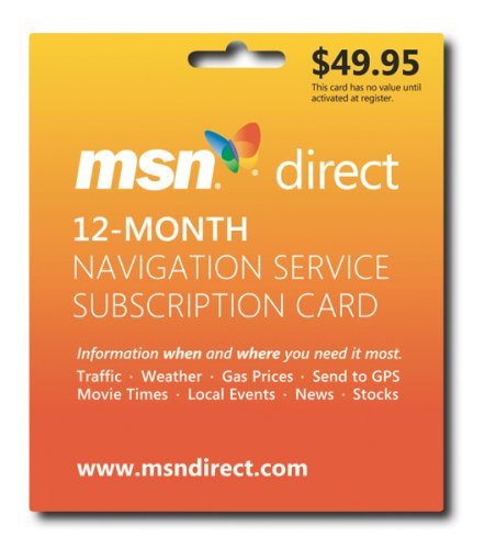 Msn Direct 12-Month Subscription Prepaid Card