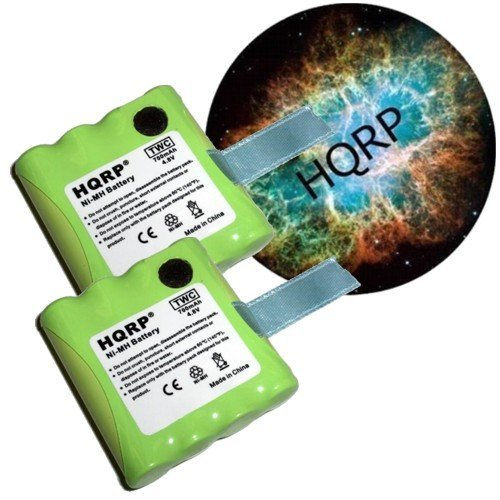 HQRP TWO Rechargeable Batteries for MIDLAND LXT-480 / LXT480 / LXT-490 / LXT490 / LXT490VP3 Two-Way Radio plus Coaster
