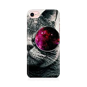 RAYITE Classy Glassy Cat Premium Printed Mobile Back Case Cover For Apple iPhone 7 Apple iPhone 7, Apple iPhone 7s,Apple iPhone 7 case,Apple iPhone 7 cover,Apple iPhone 7 back cover,Apple iPhone 7 128 Gb,iPhone 7