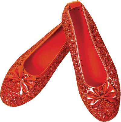 Women's Dorothy Ruby Red Slippers (Small 5-6)