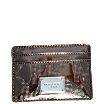 Michael Kors Items Signature Credit Card Case Mirror Metallic Nickel