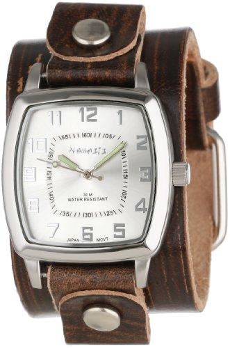 Nemesis Unisex S17BVGB Elegant Square Vintage Silver Reloj