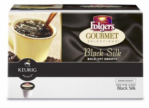 Folgers Black Silk Coffee, 108 Count K-cups for Keurig Brewers (Pack of 6)