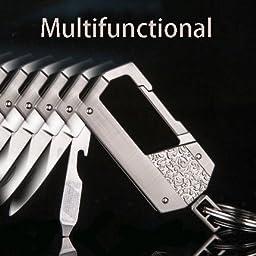 Adorox Multifunctional Key Chain Bottle Opener Pocket Knife Key Ring Zinc Alloy Keychain