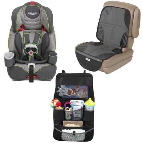 Graco Nautilus 3-In-1 Harness Booster Car Seat With Car Seat Mat & Backseat Organizer, Gavit front-1002410