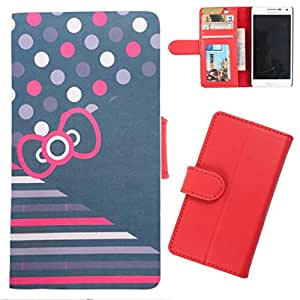 DooDa - For Micromax Canvas 2.2 A114 PU Leather Designer Fashionable Fancy Wallet Flip Case Cover Pouch With Card, ID & Cash Slots And Smooth Inner Velvet With Strong Magnetic Lock