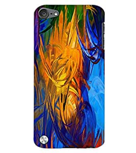 PrintDhaba PAINT ART D-6494 Back Case Cover for APPLE IPOD TOUCH 5 (Multi-Coloured)