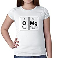 OMg Periodic Table Science Nerd Geek Graphic Girl's Cotton Youth T-Shirt