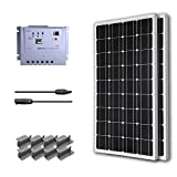 RENOGY® Premium Solar Panel Kit 100W Monocrystalline Off Grid: 2pc 100W Mono solar panel UL Listed+ 20A MPPT Charge Controller+ MC4 20ft Adapter Kit+ Mounting Z Brackets
