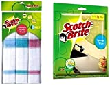 Scotch-Brite Kitchen Towel Large (Pack of 3) and Sponge Wipe Large (Pack of 3)