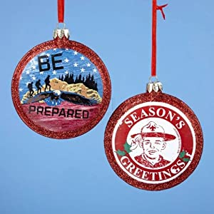 Boy Scout Round Disc Ornament, Set Of 2