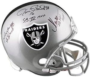 Oakland Raiders Signed Replica Helmet w  SB MVP INSCRIPTIONS - Allen, Plunkett,... by Sports Memorabilia