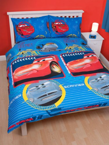 parure housse de couette linge de lit double cars disney. Black Bedroom Furniture Sets. Home Design Ideas