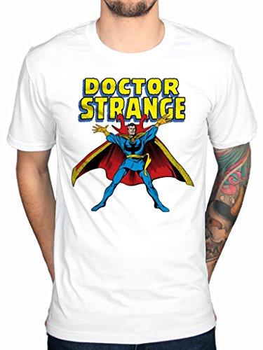 Ufficiale Marvel Doctor Strange maglietta Avengers Cartoon Hulk Spiderman White S