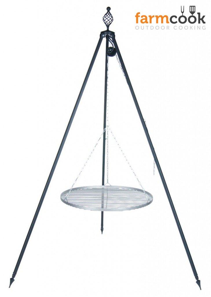 Dreibeingrill OSKAR Höhe 210cm incl. Kette und Rost aus Edelstahl 80cm kaufen
