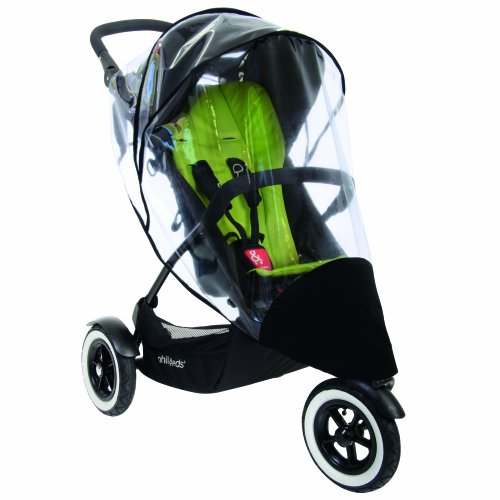 phil&teds Stormy Weather Cover for Single Dot Stroller, Clear