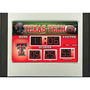 Buy Team Sports America Texas Tech Red Raiders 6.5x9 Scoreboard Desk Clock by Team Sports America