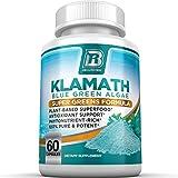 Alga azul-verde BRI Nutrition Klamath, más efectiva que  Spirulina o Chlorella, procedencia de el lago Klamath, 500mg, 60 capsulas