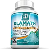 BRI Nutrition Klamath Blue Green Algae - More Effective Than Spirulina or Chlorella - Grown From The Clean Pure Source Of Klamath Lake, 500mg 60ct Gel Capsules
