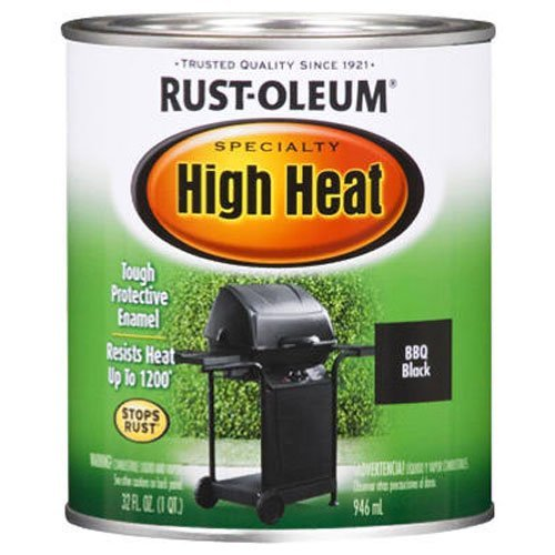Rust-Oleum 778502 Specialty High Heat Protective Enamel, Satin BBQ Black, 1-Quart (Radiator Spray Paint compare prices)