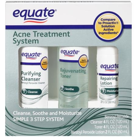Equate 3-Step Acne Treatment System + Mask (Equate Purifying Cleanser compare prices)