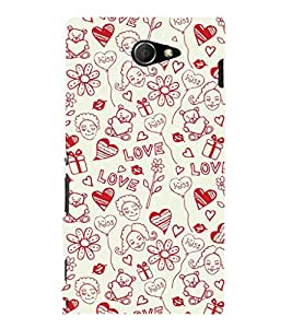 Fuson Premium Printed Hard Plastic Back Case Cover for Sony Xperia M2 Dual