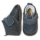 Little Blue Lamb Babyschuhe Lauflernschuhe Booties Stiefel 3819, Größe: 18-24 Monate, Farbe: schwarz -
