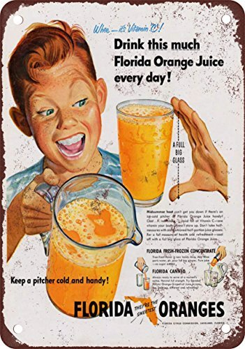 metal-poster-1951-florida-orange-juice-vintage-look-reproduction-metal-wall-sign