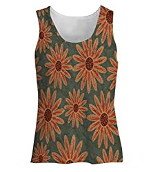 Snoogg Colorful Floral Pattern In Cartoon Style Texture With Flowers Endless Flora Womens Tunic Casual Beach Fitness Vests Tank Tops Sleeveless T shirts