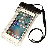 ライフエッグ 防水・防塵ケース iPhone6s/6sPlus等 スマートフォン対応 ネックストラップ カラビナ付 LW-WPCSPC01-CL