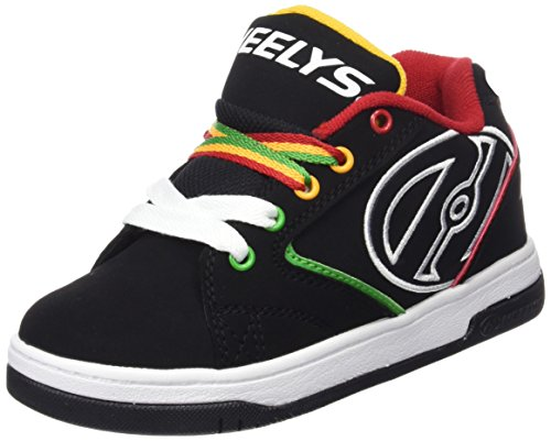 HeelysPropel 2.0 770603 - Sneakers Ragazzi, Multicolore (Black/Reggae), 33 EU