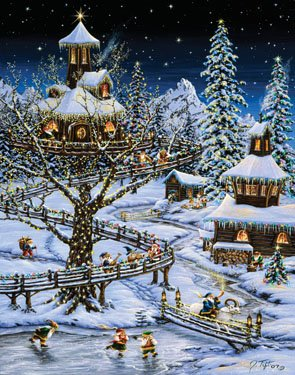 Woodland Holiday Picture Advent Calendar