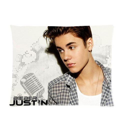 Butuku The Best Popular Fashion Star Justin Bieber Dot Point Flower Pattern Custom Soft Pillowcase Pillow Case Covers 20X26(One Side) front-514519