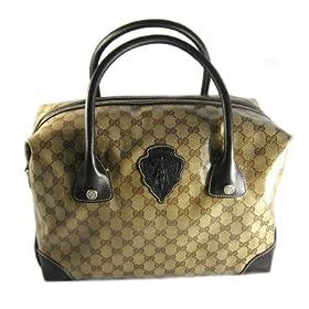 Gucci Handbags (Beige/Brown) 181496 Blazon Medium Boston Bag Coated Canvas