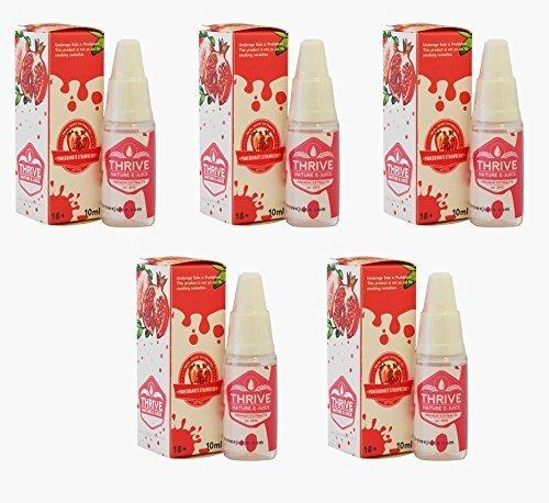 Nicotine-Free-or-No-NicotinePaquet-de-5-Grenade-fraise-prosprer-aromatise-non-E-jus-E-liquide-Nicotine-extraits-de-premire-qualit-et-0-NICOTINE