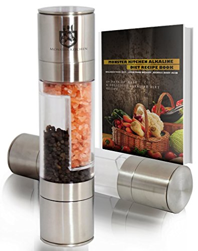 Why Choose Salt and Pepper Grinder Set 2 in 1 , Stainless Steel Salt Grinder, FREE eBook & Guide...
