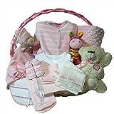Canastilla-bebe-recien-nacido-Esencial-Delux-rosa-Cesta-regalo-recien-nacido