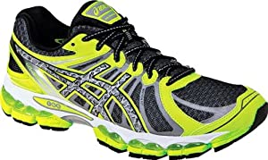 ASICS Men's Gel-Nimbus 15 Lite-Show Running Shoe,Black/Reflective/Flash Yellow,9 M US