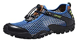 Mohem Jason Men\'s Casual Outdoor Sandals Trail Shoes(16820SkyBlue43)