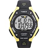 Timex Men's T5E921 Ironman Traditional 30-Lap Black/Yellow Resin Strap Watch