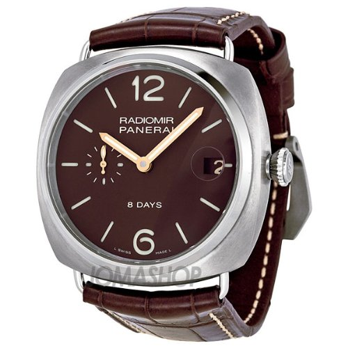 Panerai Radiomir 8 Days Brown Dial Mens Watch PAM00346