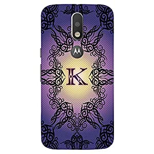 Lavender Black Design K - Mobile Back Case Cover For MOTOROLA MOTO G4 PLUS