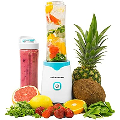 Andrew James Sports Smoothie Maker 250W Personal Blender - Available in Blue, Green or Pink
