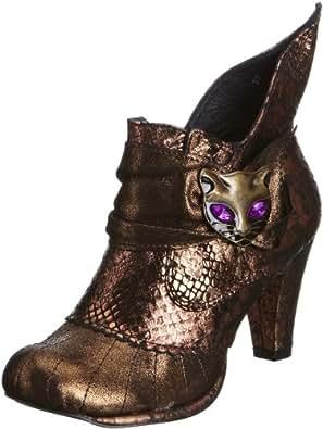 Irregular Choice Women's Miaow Bronze Ankle Boots 3432-2G 3.5 UK