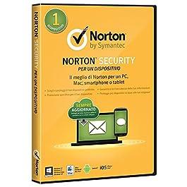 Symantec Norton Security 2015 Full, 1 Utente, 1 Dispositivo, PC, Mac, Smartphone o Tablet