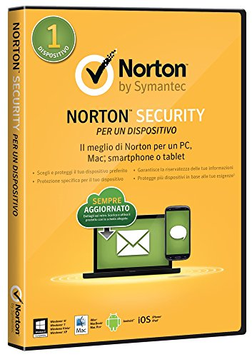 Symantec Norton Security 2015 Full, 1 Utente, 1 Dispositivo, PC, Mac, Smartphone o Tablet