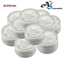 A&S Creavention® LED Mini Wedding Light Waterproof Wedding Underwater Battery LED Lights (50)