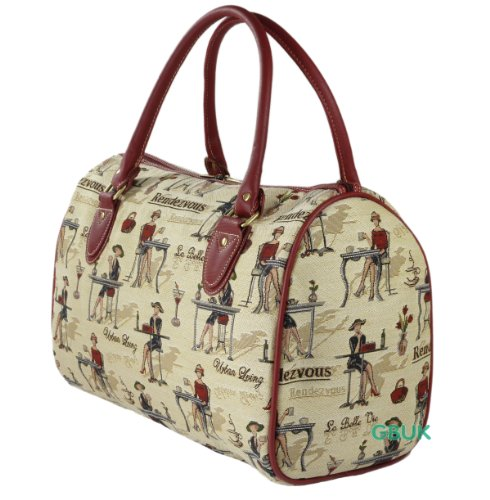 Tapestry Weekend Holdall/Hand Luggage/Travel Cabin Bag (medium) Cafe - Gobelin Style
